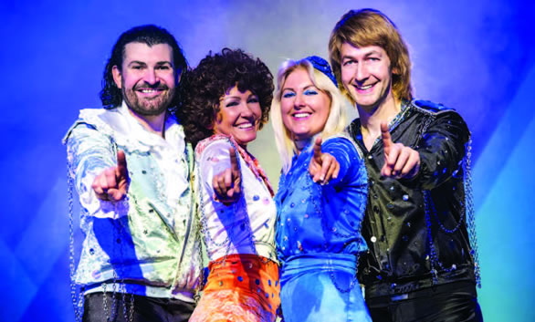 Abba tribute act appearing at Hertfordshire Music Festival