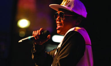 Jeff Dingle as BRUNO MARS appearing at Hertfordshire Music Festival