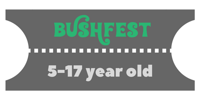 BUY 15 - 17 Year old  tickets for Bushfest, Hertfordshire Music festival 2018
